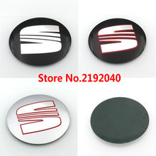 Car Styling 4pcs 90mm 3D Aluminum SEAT Car Wheel Emblem Badge Logo Stickers For SEAT Ibiza Leon Alhambra Altea Exeo
