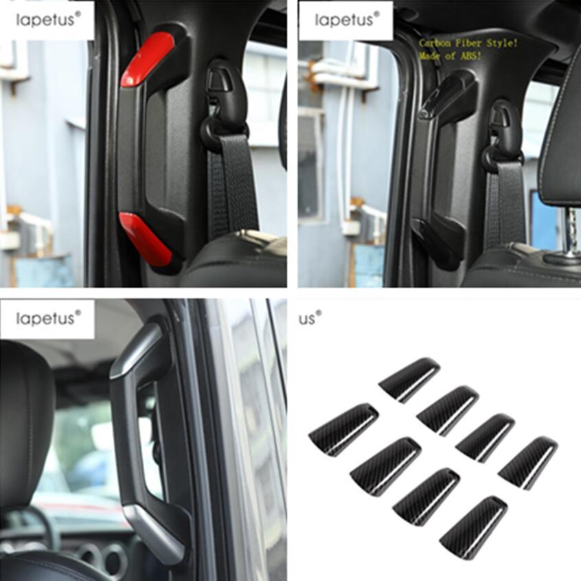 Carbon Fiber A//B Pillar Handle Cover Trim Decor Fit 2018 Jeep Wrangler JL 2-Door
