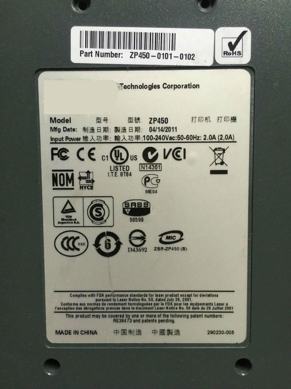 FOR Zebra ZP 450 Power Supply Unit ZP450-0101-0102 100~240V FSP60-11 808102-001 for zebra zp 450 power supply unit zp450 0101 0102 100 240v fsp60 11 808102 001