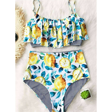 Vintage Floral Swimsuit Set Separate Swimwear Women's High Waist Swimming Suit 2019 Summer Flower Bathing Suit