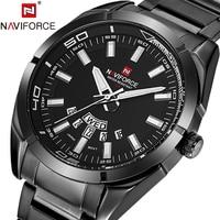 NAVIFORCE Men S Watch Luxury Brand Full Steel Quartz Wristwatches 24 Hour Date Clock Week Display
