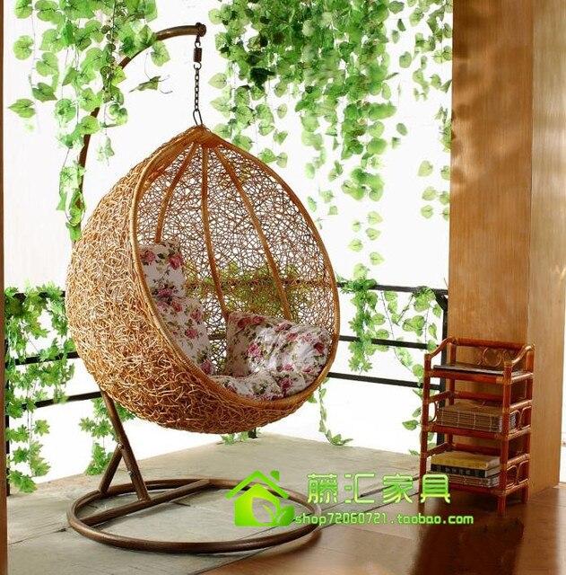 Famous Round bird nest outdoor swing balcony hanging chair rattan  WG28