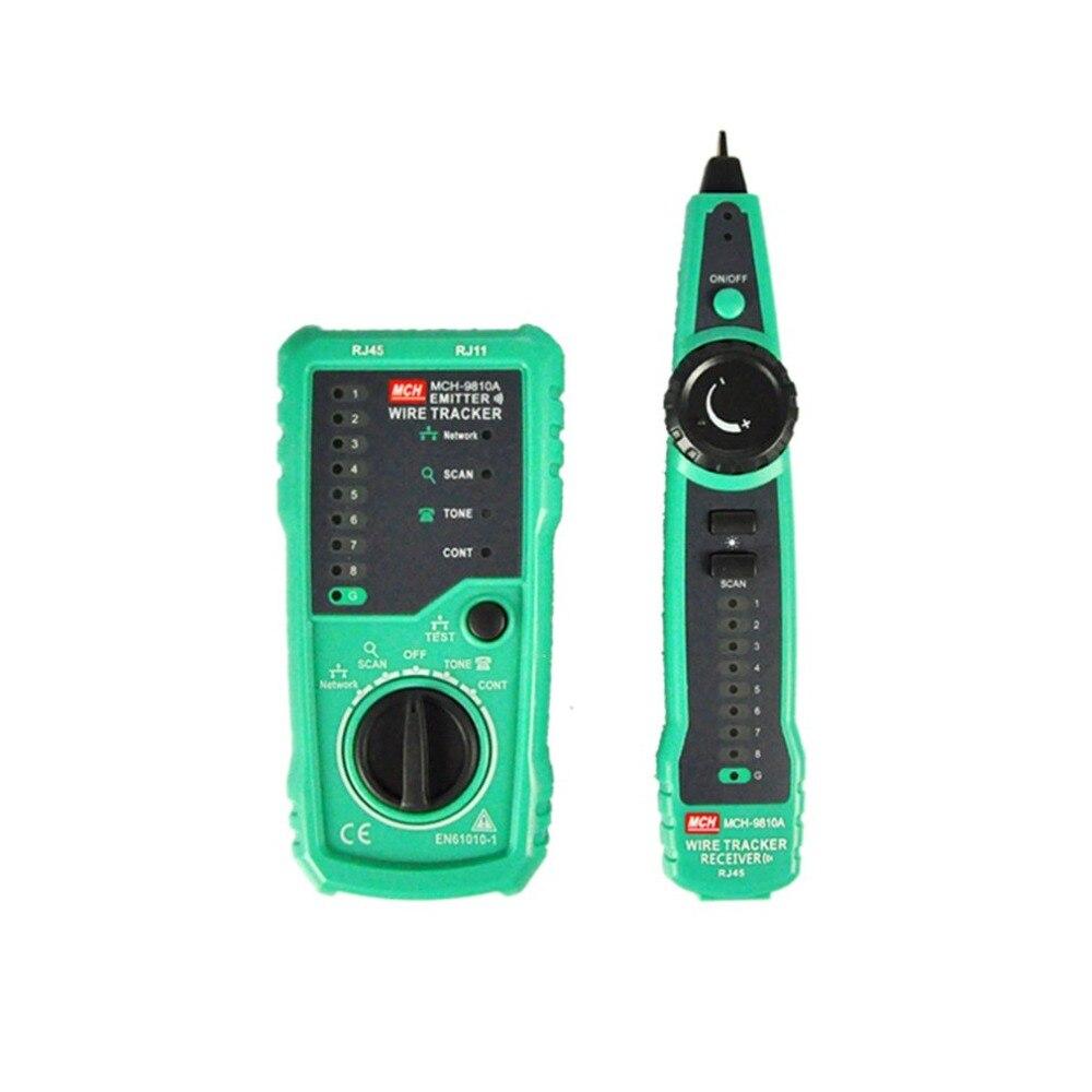 Handheld RJ45 RJ11 Network Telephone Cable LAN Toner Ethernet Tester Wire Line Tracker Finder Meter Detector with Earphone Sale