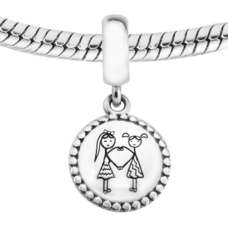 CKK Bead Fits Pandora Charms Bracelet Besties Dangle Charm 100% 925 Sterling Silver Beads for Jewelry Making Wholesale F660CKK Bead Fits Pandora Charms Bracelet Besties Dangle Charm 100% 925 Sterling Silver Beads for Jewelry Making Wholesale F660