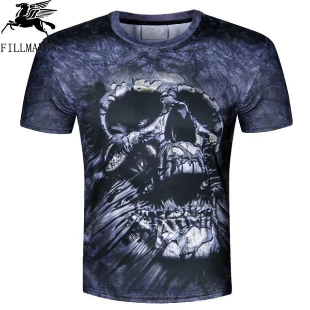 skull head 3d T-shirt sexy women Shirt Camiseta 3d T Shirt Men Funny T Shirts Mens Clothing Casual Fitness TeeTop Animal Tshirt