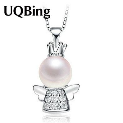 Free shipping 925 sterling silver crown angel pearl pendant free shipping 925 sterling silver crown angel pearl pendant wholesale jewelry silver pendant colgante pingente de aloadofball Gallery