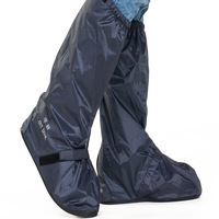 Navy Reusable Shoe Covers PVC Rainy Motorcycle Riding Cycling Non Slip Waterproof Shoe Covers Protective Galochas