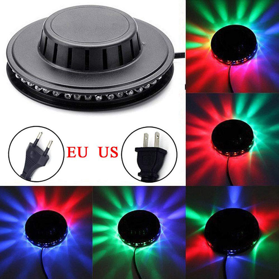 Mini 48 LEDs 8W RGB Sunflower Laser Projector Lighting Disco Stage Light Bar DJ Sound Background Wall Light Christmas Party Lamp