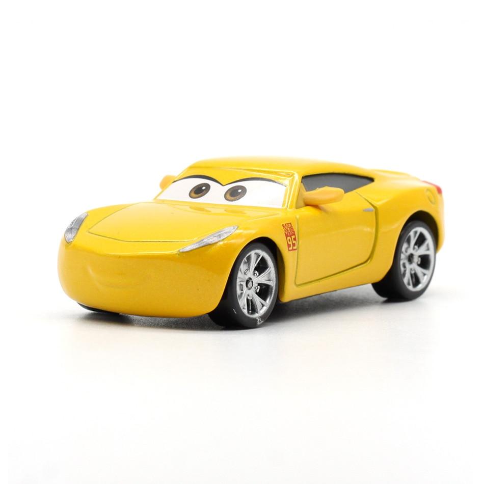 27 Style Disney Pixar Cars 3 Lightnig McQueen Jackson Storm Cruz Ramirez Mater Diecast Metal Alloy Cars Model Kid Christmas Toy