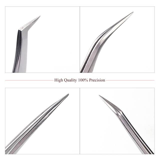 1pc Profession Stainless Eyebrow Tweezer Eyelash Flower Extension Beauty Makeup Tools High Precision Quality Tweezers CHU01-05 4