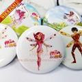 9 unids Nuevo Mia y Me Cartoon Insignias Pinbacks Chapas Buttons pins insignias Insignia Broche Redonda, Ropa/los Bolsos accesorios