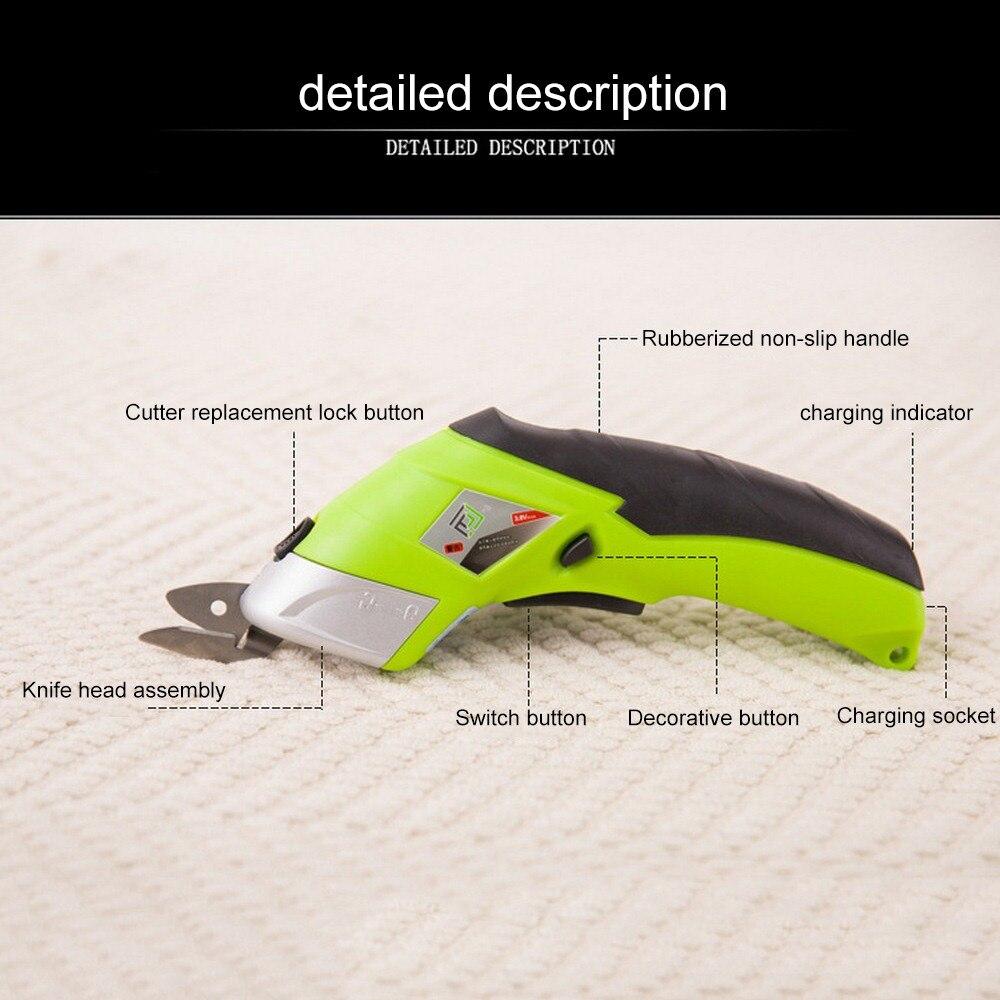 110 V 220 V Elektrische Schaar Multipurpose Draadloze Naaien Schaar Drinkbaar Elektrische Stof Craft Schaar Handheld Handgereedschap - 5
