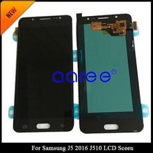 追跡号 100% テストスーパー AMOLED サムスン J5 2016 液晶 J510F J510 ディスプレイ液晶画面タッチデジタイザーアセンブリ