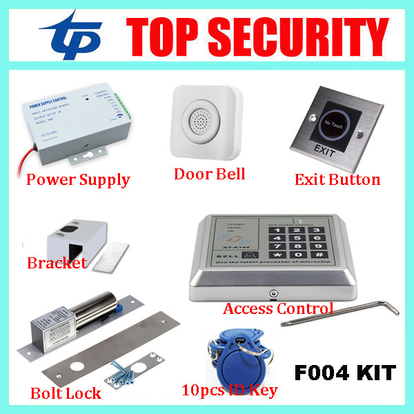 Good quality TP F004 smart RFID card door access control system with keypad EM ID card access controller door security reader good quality smart rfid card door access control reader touch waterproof keypad 125khz id card single door access controller