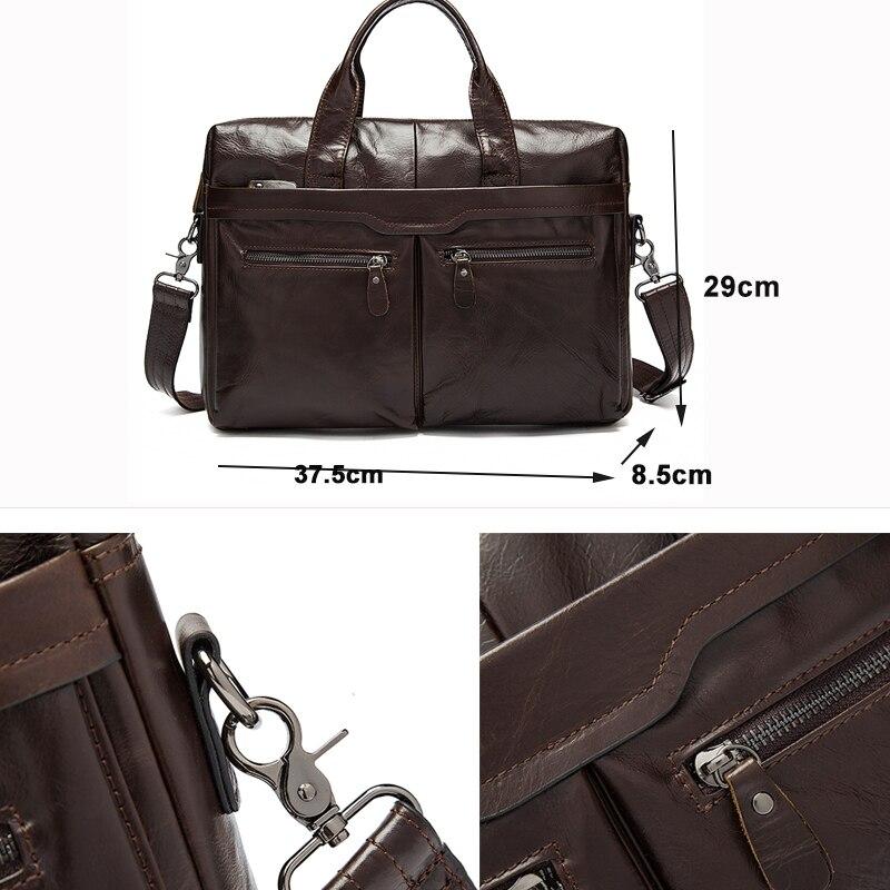 Bagaj ve Çantalar'ten Evrak Çantaları'de MVA Çantası erkek evrak çantası/Hakiki Deri laptop çantası Deri ofis çantaları erkekler evrak çantası için dizüstü iş tote belge 9005'da  Grup 2
