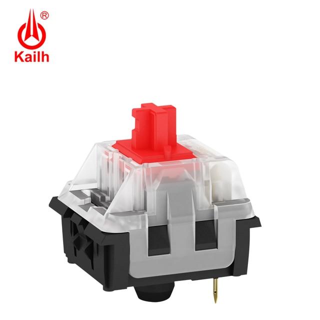 Kailh Long hua игровая механическая клавиатура переключатель SMD с коричневым/красным/синим/черным стержнем клавиш, с контактами