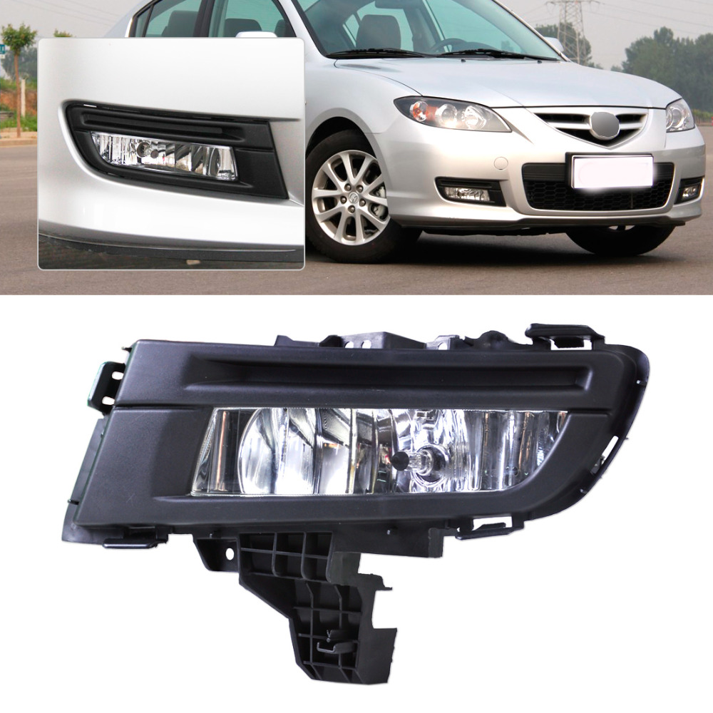 beler high quality ABS plastic  Front Right Fog Light Lamp 9006 12V 51W for Mazda 3 2007 2008 2009 Replacement MA2592113 beler new high quality abs plastic new front left fog light lamp 9006 12v 51w replacement ma2592113 for mazda 3 2007 2008 2009
