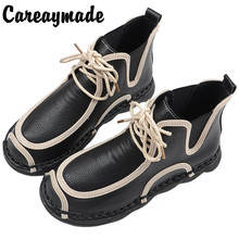 Careaymade-Sen's Handmade soft bottom Martin boots new Korean version, small and fresh artistic women's shoes and ankle boots