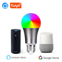 Tuya appWifi light phone control color adjustable soft cold white RGB automatic LED smart light bulb light switch