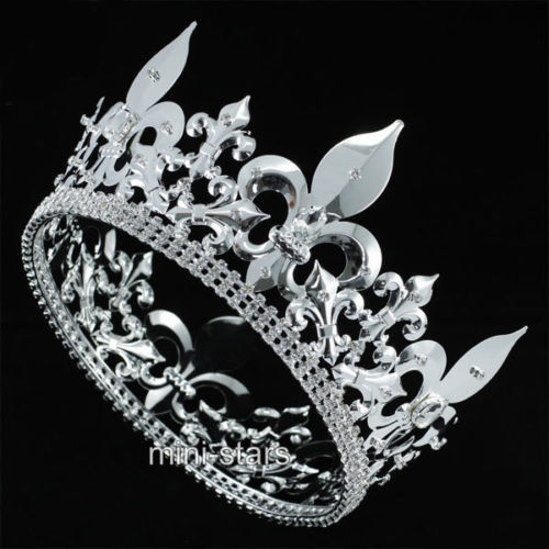 For Men Imperial Medieval Tiara Fleur De Lis Crystal ...