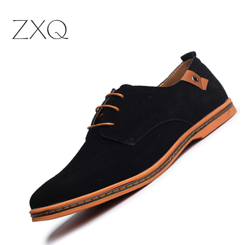 Plus Size 38-48 Classical New Fashion Men Cowhide Leather Low Top Flat Oxford Shoes For Male Zapatos Mens Shoes Casual fooraabo 2017 new print luxury mens casual shoes flat autumn winter hip hop high top men sneaker pu leather shoes big size 38 45