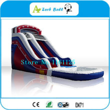Good Quality Commercial Grade Double Heart Inflatable Water Slide/  Inflatable Slide With Pool(China