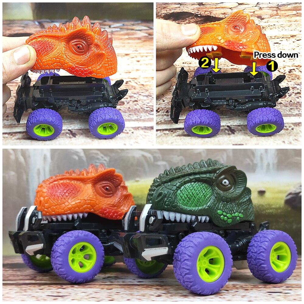 6 шт 6 стилей высокое качество детский день подарок игрушка динозавр модель мини игрушка автомобиль назад автомобиля подарок грузовик хобби