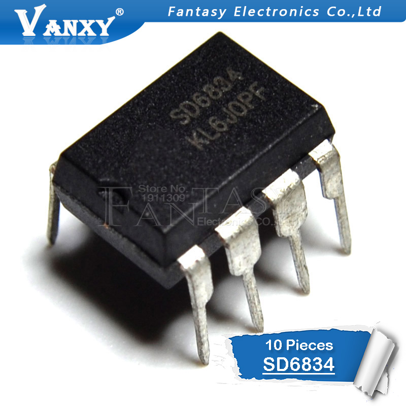 10pcs SD6834 DIP-8 SD6834 DIP New Original
