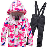 New 2019 Winter Children Sports Suit for Boy Girls Ski Jacket and Pants Children's Clothing Baby Boys Sports Warm Suit Thicker