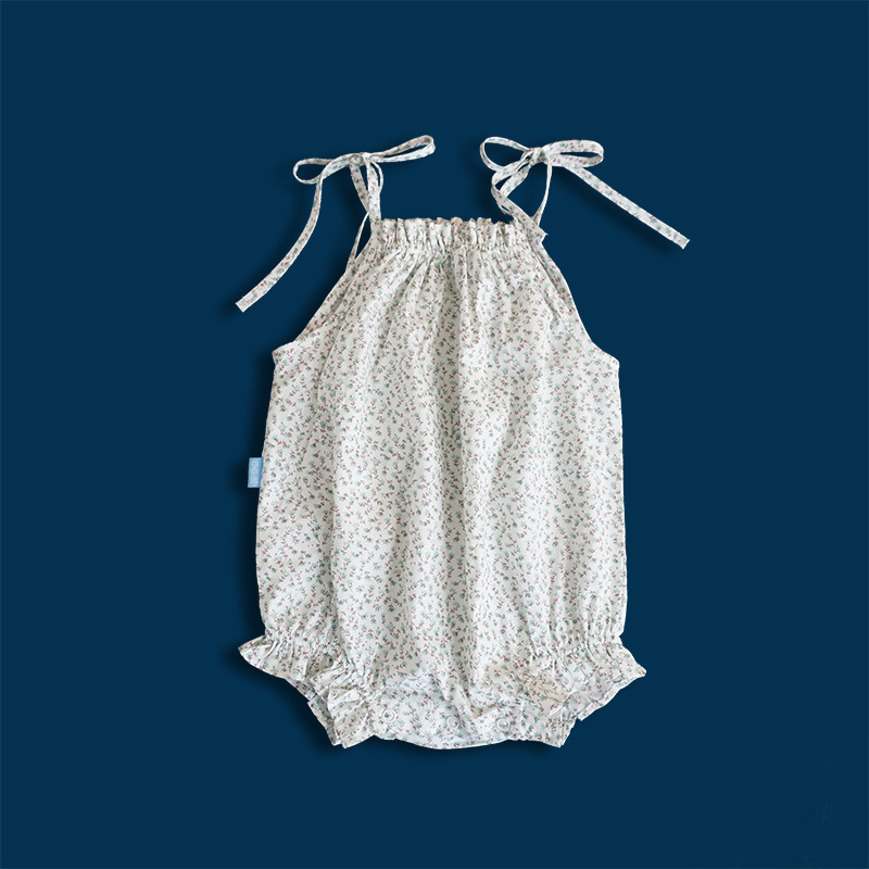 4d4fd455db6 Brand Baby Girl Clothes Summer Floral Cotton Baby Girl Romper Casual Sleeveless  Overalls Jumpsuit Cute Suspender