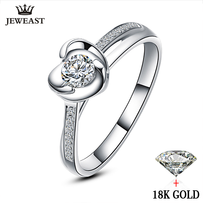 18K Gold Diamond Ring Women Wedding Party Female Lover Genuine Real Natural South Africa Propose Engagement Anniversary Custom18K Gold Diamond Ring Women Wedding Party Female Lover Genuine Real Natural South Africa Propose Engagement Anniversary Custom