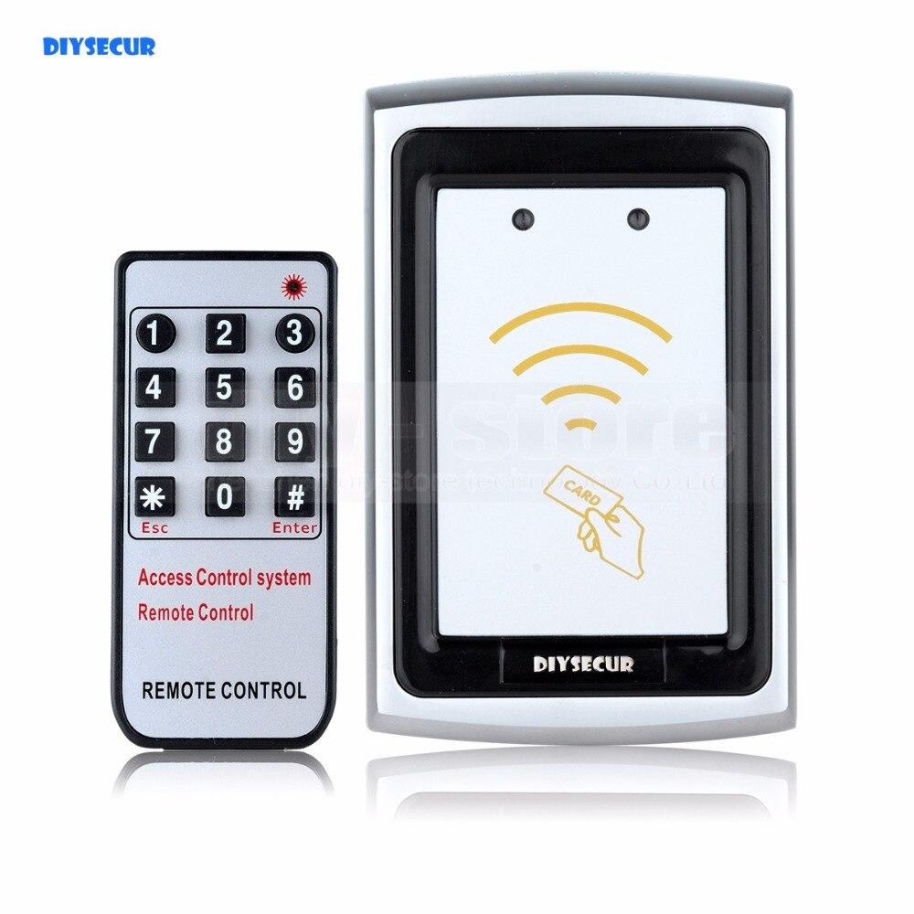 DIYSECUR Remote Control Metal Case 125KHz RFID Reader Password Accesss Controller K75EM
