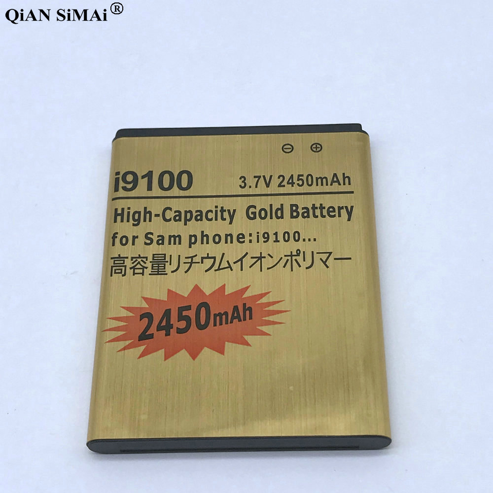 New High Quality 2450mAh Gold Battery For Samsung Galaxy S2 <font><b>i9100</b></font> i9101 i9103 i9105 i9108 phone image