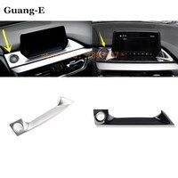 Car styling garnish cover detector Center Console Navigation box Interior GPS trims 1pcs for Mazda 6 Atenza 2017 2018