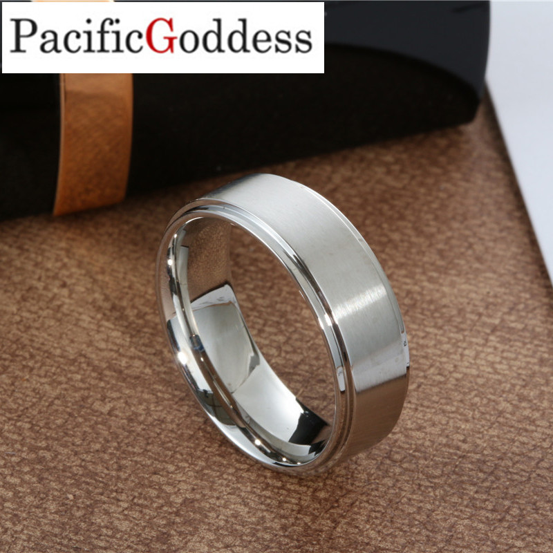 steel color Male Wedding Band Tungsten Carbide Ring 8mm Man ring 6mm men Women Anniversary Jewelry Size 5 6 7 8 9 10 11 12 13 dresser