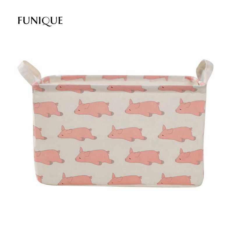 FUNIQUE Cartoon Waterproof Clothing Toys Finishing Box Folding Laundry Dirty Clothes Storage Bags Home Decoration Storage Basket
