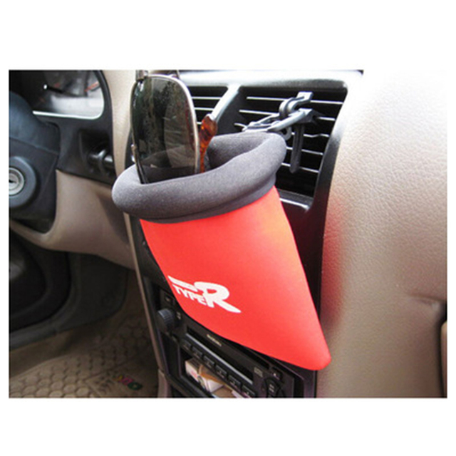 Car Interior Accessories Car Air Outlet Storage Bag Multi-use Storage Bag Auto Net Pockets Grocerys Car Trash Can