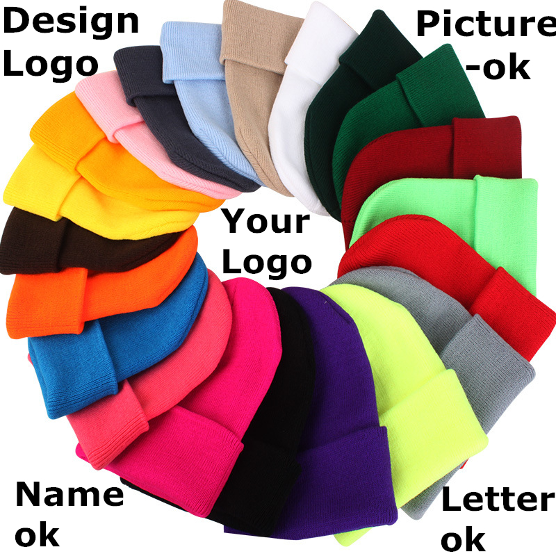 Factory Price! Free Custom LOGO Design Cheap Winter Hats for Women Men   Beanies   Knitted Hat Winter Warm Bonnet Casual Cap