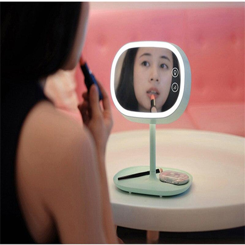 Creative Make up Mirror Desk Lamp Living room Bedroom Night Light LED Table Lamp Lighting Multifunctional LED Dimmer Book Light