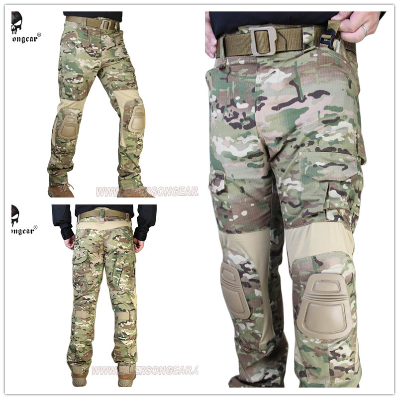 Emerson G2 Tactical pants with knee pads Airsoft Combat training Multicam EM7038MC mgeg militar tactical cargo pants men combat swat trainning ghillie pants multicam army rapid assault pants with knee pads