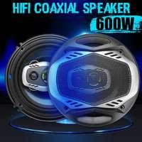 NEW 2pcs 6 Inch 600W 16cm 2 Way Universal Car Coaxial Hifi Speakers Auto Audio Music Stereo Speaker Non destructive Installat
