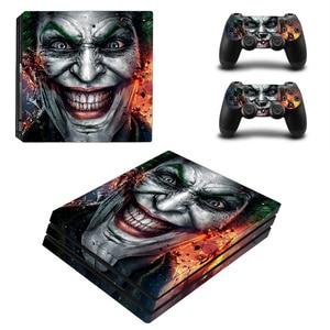 Image 1 - 조커 남자 디자인 스킨 스티커 소니 플레이 스테이션 4 프로 콘솔 & 2PCS 컨트롤러 스킨 데칼 PS4 프로 게임 액세서리