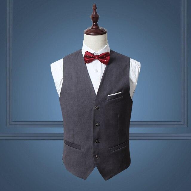 Nuevo 2017 casual de negocios de color sólido chaleco de los hombres del  vestido de boda 341084c76ad