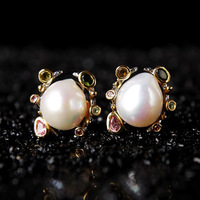 baroque abnormity natural pearl earrings female undertakes to Europe and the United States exaggerate earrings factory