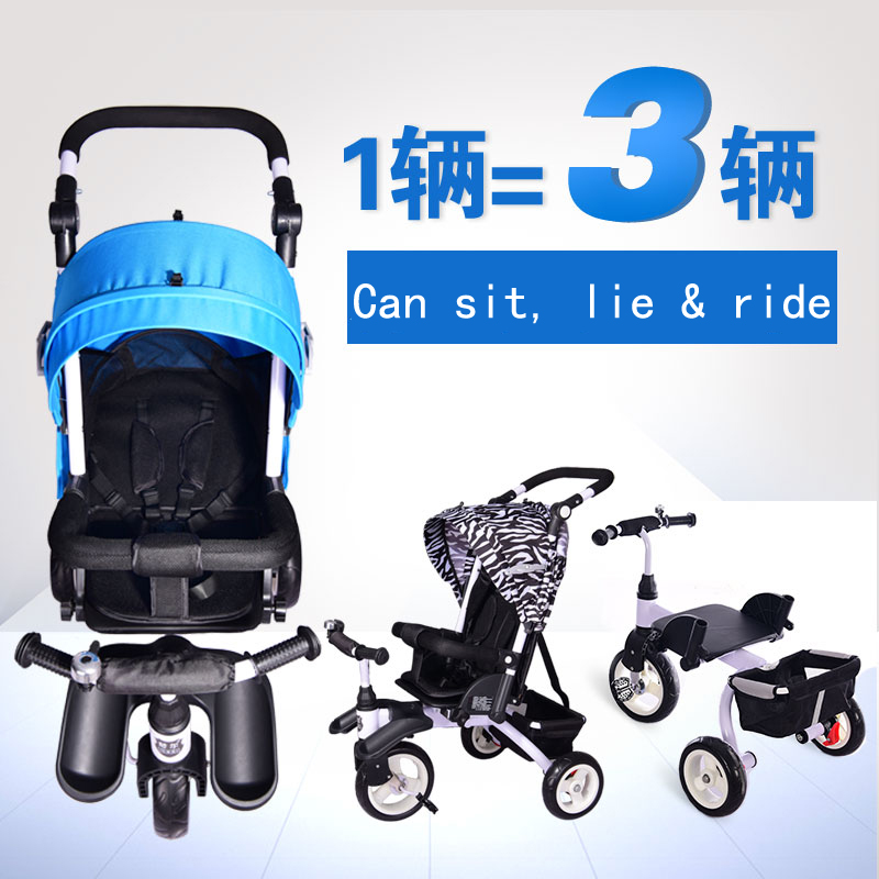 Multi-function Folding Baby Stroller Baby Pram, 3 Wheels Children Bike, Kid's Bicycle, Suitable for 0 ~ 6 Years Old Kids 12 14 16 kids bike children bicycle for 2 8 years boy grils ride kids bicycle with pedal toys children bike colorful adult