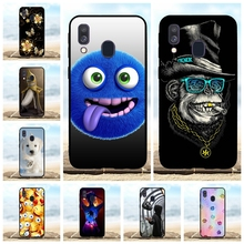 For Samsung Galaxy A40 Cover Soft TPU Silicone SM-A405F Case Lion Patterned Coque