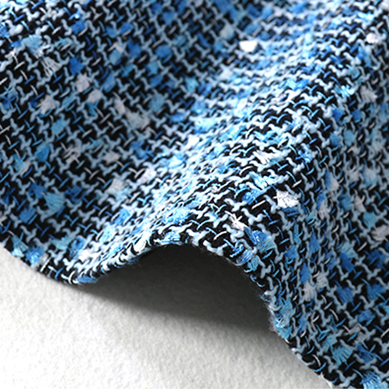 und kleiner unten Kleid Duft Dame Tweed Plaid Wind Fall Winterfrauen Blaues xodWBeQrC