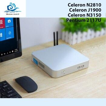 Mini PC Fanless Computer Mini Windows 10 Celeron N3150 Quad Cores Celeron 1007U N2810 HTPC Desktop PC 4GB RAM TV BOX