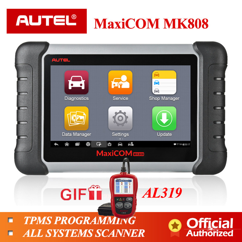 Autel MaxiCOM MK808 MX808 Automobile Diagnostic Tool All System Key Programming OBD2 II Scanner ABS SRS as MD802 + MaxiCheck ProAutel MaxiCOM MK808 MX808 Automobile Diagnostic Tool All System Key Programming OBD2 II Scanner ABS SRS as MD802 + MaxiCheck Pro