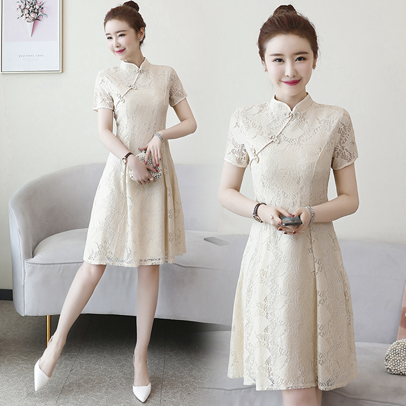 Summer Cheongsam Vintage Chinese Women Elegant Dress Embroidery Bride Wedding Qipao Cheongsam Chinese Traditional Dress Retro